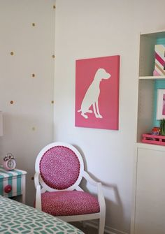 Hang Paper Party Lanterns, Just Hammer A Nail Into The Ceiling With The  String Tied To The Nail   Bright And Fun Girlu0027s Room Revamp Project.