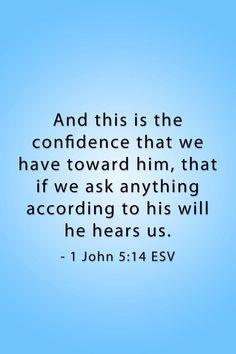 1 John 5:14 / BIBLE IN MY LANGUAGE