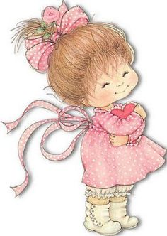 love this artist - Ruth Morehead Cute Little Girls, Cute Kids, Cute Images, Cute Pictures, Decoupage, Image Digital, Cute Clipart, Holly Hobbie, Illustrations