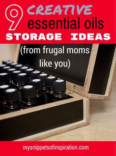 Don't want to buy those expensive storage boxes for your essential oils? I don't blame you! These are a #collection of #storage ideas for #essential #oils or #nailpolish #bottles!