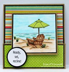 by MrsOke - Cards and Paper Crafts at Splitcoaststampers Hand Made Greeting Cards, Making Greeting Cards, Card Making Inspiration, Making Ideas, Retirement Cards, Retirement Ideas, Joy Fold Card, Nautical Cards, Beach Cards