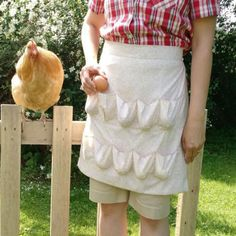Chicken Egg Collecting Apron-Multi Pockets Handmade in Amish Country the Egg Collecting Apron is a fun and superior replacement to the traditional basket. No more broken eggs or struggling with lids a