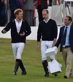 Prince Harry and Prince William Photos - Audi Polo at Coworth Park Ascot Berkshire - Zimbio