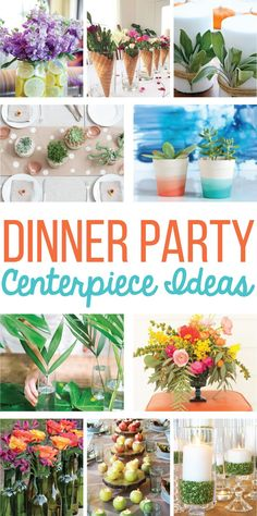 15 Easy Centerpiece Ideas for a Dinner Party on Love the Day party centerpieces 15 Centerpiece Ideas for a Dinner Party Dinner Table Centerpieces, Dinner Party Decorations, Dinner Party Table, Dinner Themes, Simple Centerpieces, Centerpiece Ideas, Party Themes, Dinner Parties, Dinner Party Favors