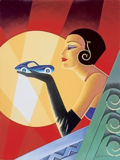 Art Deco // Femme Au Volant // Alain Lévesque