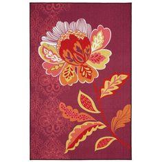 Mohawk Home Purple Amaranda Purple Rug ($109) ❤ liked on Polyvore featuring home, rugs, purple, flower stems, flower area rug, purple area rugs, blossom rug and flower rug