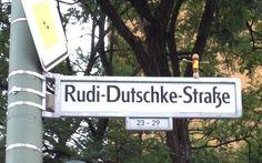 Rudi-Dutschke-Straße - this little man vanished after a few hours.