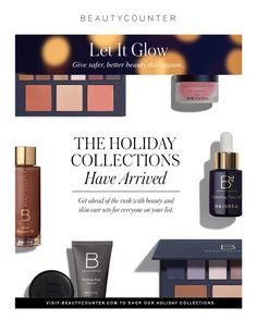 Give the gift of SAFER beautiful products this holiday season! This is the best stocking stuffer around!  Search terms: Beautycounter award winning best seller top rated skin care no harmful chemicals healthy cosmetics makeup paraben free natural green organic coconut oil no bad ingredients to avoid skin treatment toxin free low toxicity anti aging cream not tested on animals sensitive skin safe cosmetic brand clean
