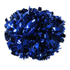 NEW!!    Metallic Royal Blue Baton Handle Pom by Cheerleading Company