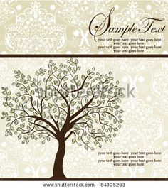 Swirl Tree Roots Antiqued Family Reunion Invite  Family Reunions