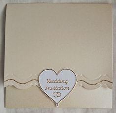 6 x 6 Handmade Blank Wedding Invitation with Pocket for RSVP & Evening Invitation/Menu by BavsCrafts on Etsy