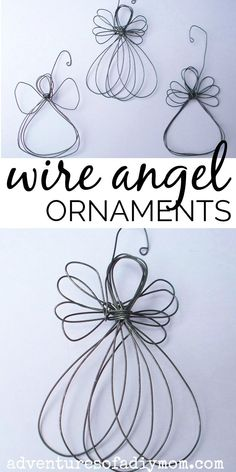 DIY wire angel ornaments are easy to make and so beautiful. DIY wire angel ornaments are easy to make and so beautiful. Wire Ornaments, Nativity Ornaments, Diy Christmas Ornaments, Christmas Angels, Simple Christmas, Christmas Nativity, Christmas Tree, Christmas Desserts, Christmas Ideas