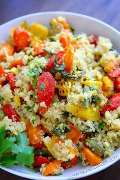 Roasted Veggie and Quinoa Salad from www.laurenslatest.com #eatseasonal @Lauren's Latest
