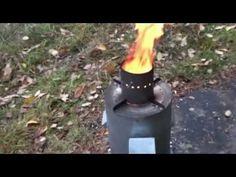 DIY rocket stove - gravity feed (update). - YouTube