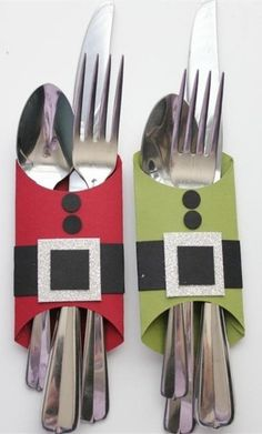 2013 fun Christmas cutlery decor,creative Christmas Cutlery holder decor, knives…