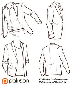 Clothes wrinkles; art reference // Jackets Reference Sheet by Kibbitzer on…