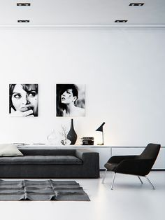 ULF G B☮HLIN • InteriorDesign: Black & White living room