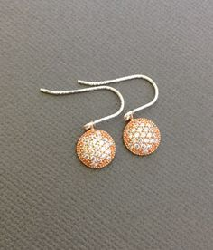 Tiny Dangling Earrings Sparkling Circle dangling by Muse411