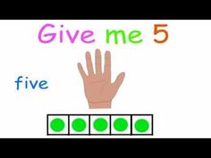 Give me five is a maths song for children about the number bonds of the number You'll be singing Give me 5 all day long! A fun way for kids to learn the addition combinations that make Math Classroom, Kindergarten Math, Teaching Math, Teaching Tools, Fun Math, Math Activities, Maths, Number Bonds, Number 5