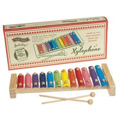 vintage style wooden xylophone by little baby company | notonthehighstreet.com