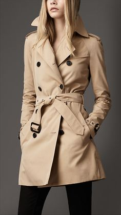 Trench Coat of the Fancy- Burberry Undercollar Buckle Trench Coat