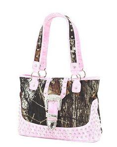 Pink Camo Purses | 238345 [pink purses] - Mossy Oak Pink Camo Camouflage Rhinestone ...