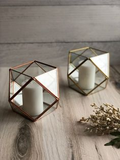 Excited to share this item from my shop: Glass Candle Holder Terrarium Wedding Centerpiece, Gold Terrarium, Wedding Table Centerpieces, Table Decorations, Decor Wedding, Boho Wedding, Gold Table Decor, Copper Wedding Decor, Centrepieces