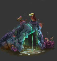 Magic stones! series , javier salas on ArtStation at https://www.artstation.com/artwork/magic-stones-series