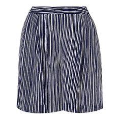 Buy L.K. Bennett Lea Loose Shorts, Navy/White Online at johnlewis.com