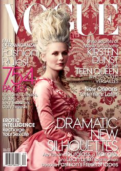 Kirsten Dunst as Marie Antoinette (Vogue, Sept. 2006) photo by Annie Leibovitz
