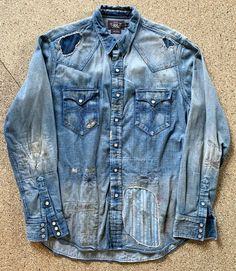 According to this, my closet is a gold mine Denim Shirt Men, Denim Jacket Men, Denim Jeans, Men Shorts, Denim Jackets, Patched Denim, Denim Ralph Lauren, Ralph Lauren Style, Raw Denim