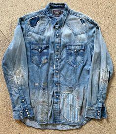 According to this, my closet is a gold mine Denim Shirt Men, Denim Jacket Men, Denim Jeans, Men Shorts, Denim Flares, Denim Jackets, Patched Denim, Denim Ralph Lauren, Ralph Lauren Style