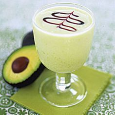 Avocado Daiquiri:    •2 ounces light rum  •2 ounces gold rum  •1/2 ounce fresh lemon juice  •1/2 ounce fresh lime juice  •2 ounces simple syrup  •1/4 medium-ripe avocado, peeled and pitted  •1/2 ounce half-and-half  •1 1/2 cups ice    Combine ingredients in blender and blend on high until just smooth, about 20 seconds. Divide mixture between two cocktail glasses and serve.