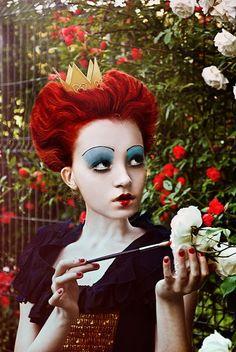 Tim Burton's Queen of Hearts cosplay
