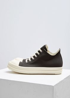 online store 5051a b367b Low Sneaker Eyelet Lace, Cotton Lace, Lace Up, White Flats, Rick Owens