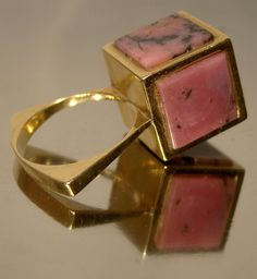 Crazy Studio 18K Gold and Pink Marble Panels by FionaKennyAntiques, $325.00