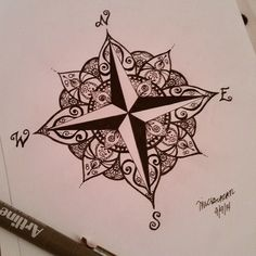 Pretty Tattoos, Cool Tattoos, Elbow Tattoos, Time Tattoos, New Tattoos, Beautiful Tattoos, Body Art Tattoos, Tatoos, Nautical Compass Tattoo