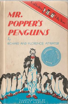 VINTAGE KIDS BOOK Mr. Popper's Penguins by HazelCatkins on Etsy, $10.00