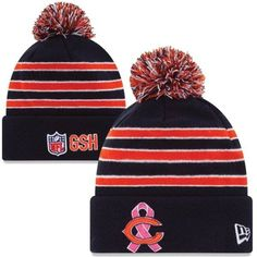 c77db56b5 New Era Chicago Bears Breast Cancer Awareness On-Field Sport Knit Beanie