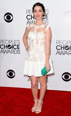 People's Choice Awards 2014  Actress Adelaide Kane is lovely in lace – we love this for cute bridal style inspiration.