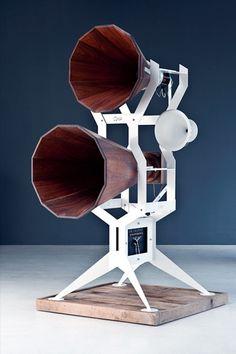 The Imperia loudspeakers–lots of amazing audio equipment at OMA.