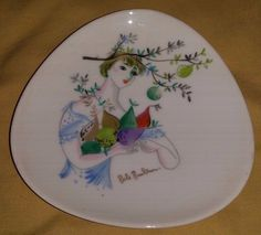 SMALL Vintage ROSENTHAL Blonde Bele Burlen PLATE 4 1/2"