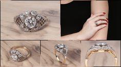 Przepiękny pierścionek z diamentami. Beautifull ring with diamonds.