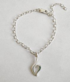 Eating Disorder Recovery Symbol Bracelet with Charm by eonedesigns