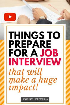 Things to Prepare for a Job Interview that will Make a Huge Impact - Alina Common Job Interview Questions, Job Interview Preparation, Interview Answers, Job Interview Tips, Career Advisor, Job Hunting Tips, Job Search Tips, Career Coach, Resume Tips