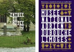 national porcelain museum adrien dubouché, limoges. font design, signage and poster announcing the opening of the museum by atelier ter bekke & behage