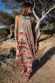 Love this dress. Boho babe.