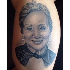 Grandmother portrait tattoo, Tatu Baby