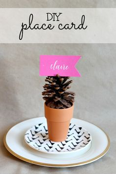 easy name card | easy place card | diy | diy place card | diy name card | last minute place card