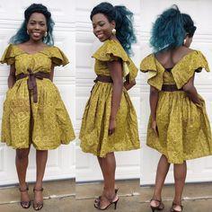 African ankara women dress African clothing African by Veroexshop